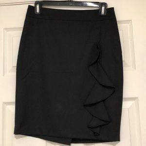 Black Skirt with Ruffle